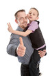 Allein erziehender Vater mit seinem Sohn