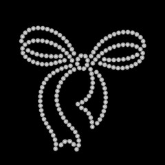 Decorative bow, diamond pattern on black