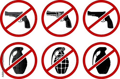 no pistols and grenades