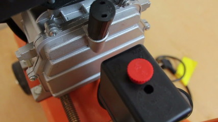 Air compressor close up