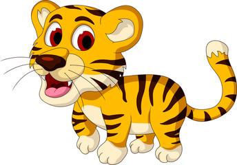 cute baby tiger walking