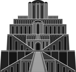 Stencil of ziggurat