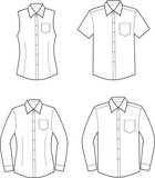 Vector illustration of men's and women's shirts