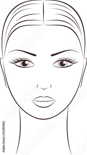 Vector illustration of women's face