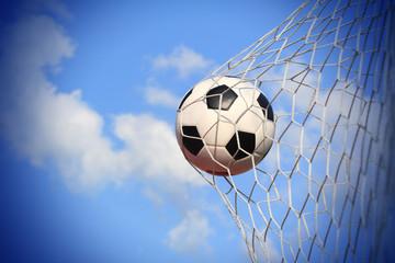 soccer ball shoot to goal