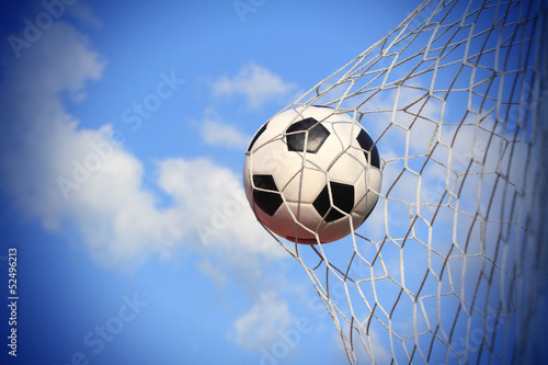 soccer ball shoot to goal