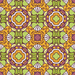 floral seamless pattern with ethnicity motif