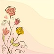 Floral Background with roses. Romantic card.