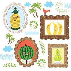 portrait of fruits