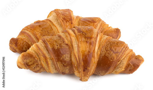 Croissant isolated on the white background