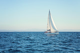Racing yacht in the Mediterranean Sea