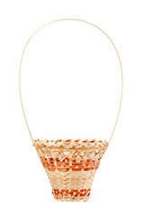 The wattled basket is isolated on a white background