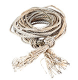 The hank of a rope is isolated on a white background poster