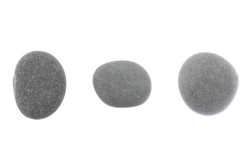 Set of stones of a round form are isolated on a white background