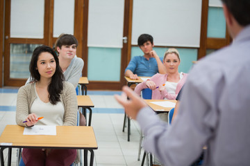 Teacher talking to the class