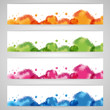 Colorful watercolors set
