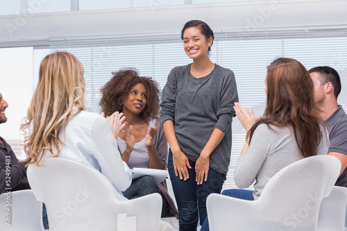 Patient has a breakthrough in group therapy