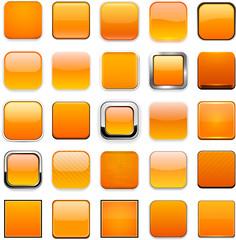 Square orange app icons.