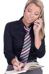 Beautiful call center agent