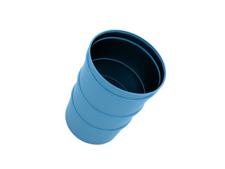 Blue barrel isolated