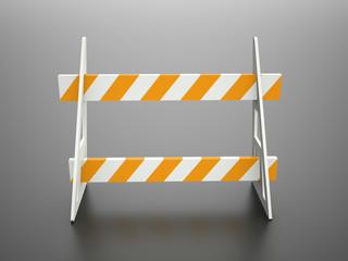 Road barrier orange