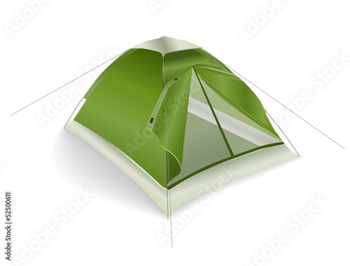 green tourist tent