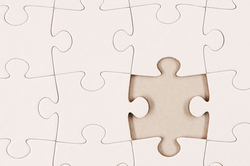 Plain White Jigsaw Puzzle 2