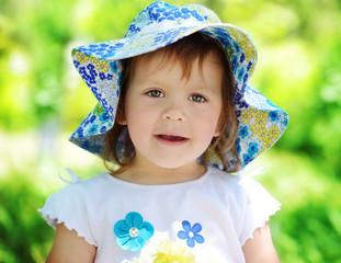cute summer toddler
