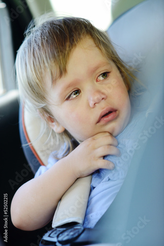 crying baby in carseat