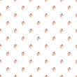 Seamless vector pattern cupcakes on white background