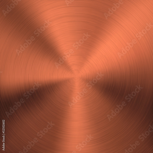 Gold Metal Background with Circular Texture
