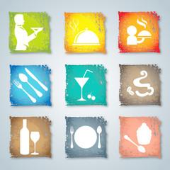 Label set for restaurant, cafe and bar