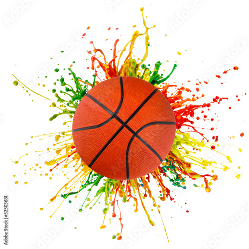 colorful splash with sport ball