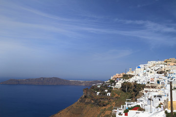 View of Santorini island in Greece
