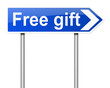 Free gift concept.