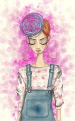 Pink fashion beret