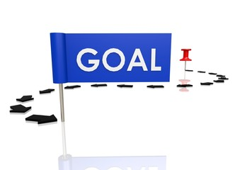 Push pin to goal
