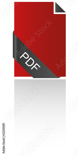 PDF Icon Banderole geschwungen