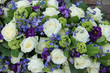 Wedding arrangement in white and blue
