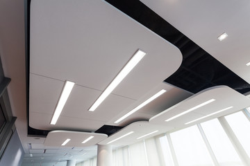 Modern ceiling with lighting
