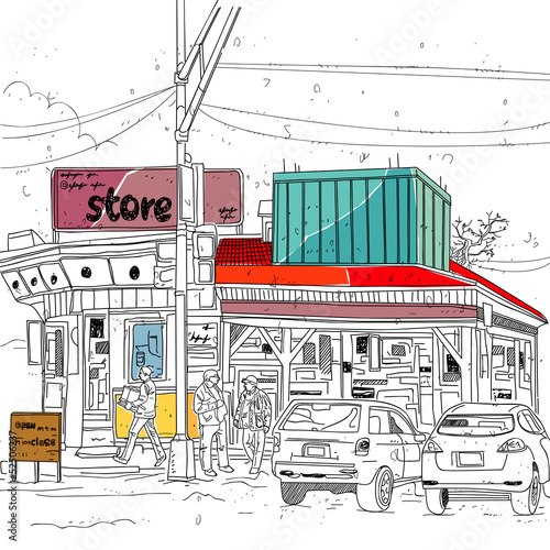 store street scene - 52506237