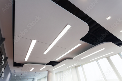 Modern ceiling with lighting - 52506285