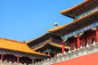 Rooftops of the forbidden city in Beijing