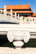Ornament of bridge in forbidden city in Beijing
