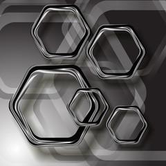 серые шестиугольники на сером фоне