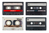 Old cassette tapes set