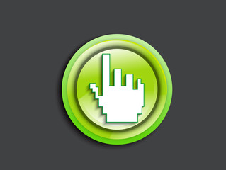 abstract glossy hand cursor icon
