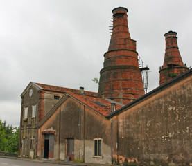 industrial heritage site with a historic building and the old re