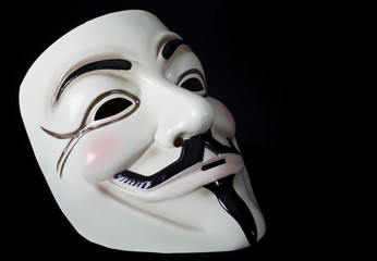 V for Vendetta mask isolated