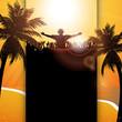 Summer festival panel background